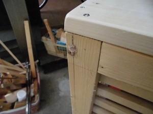日曜大工自習教室~下手の横好き編~ 木ダボの切断残存部分/どこまでもアマチュア