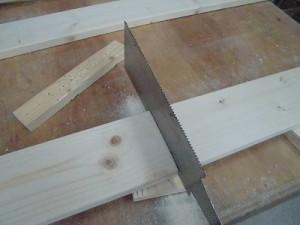 日曜大工教室~我流か自己流か編~ 底面に必要な1×4材の切り出し/どこまでもアマチュア