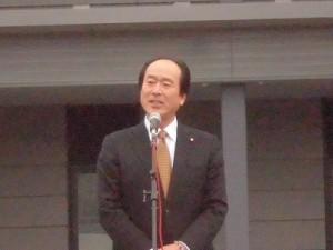 結の故郷 越前おおの 新そばまつり2015 来賓 大野市議会議長 高岡和行氏/どこまでもアマチュア