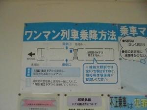 足羽駅はこんなところでした。 ワンマン列車乗降方法/どこまでもアマチュア