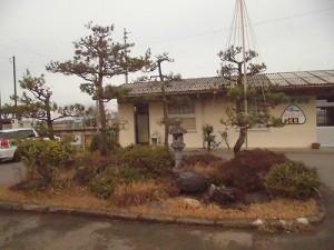 越前東郷駅を見てきました。 駅舎前の植え込み/どこまでもアマチュア