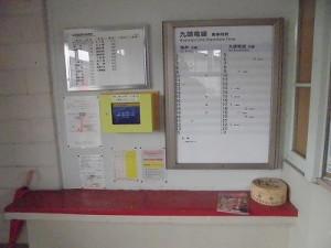 越前東郷駅を見てきました。 掲示コーナー/どこまでもアマチュア