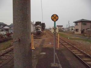 越前東郷駅を見てきました。 プラットホーム先端の様子/どこまでもアマチュア
