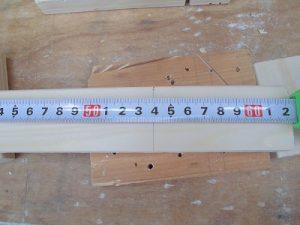 日曜大工教室~我流か自己流か編~ 桟の長さを記入/どこまでもアマチュア
