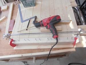 日曜大工教室~我流か自己流か編~ 桟をクランプで固定/どこまでもアマチュア