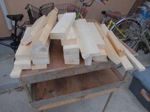ウッドデッキ床板取り替えに伴う余り木