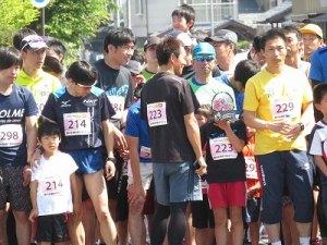 スタートラインの親子マラソン出場者