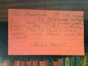 Geronimo Stilton: The Phantom of the Subway, reviewed by Elsie