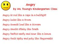 Ms. Young's Kindergarten - Angry