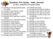 Goodbye 1st Grade, Hello 2nd by Mrs. Corbett's Class