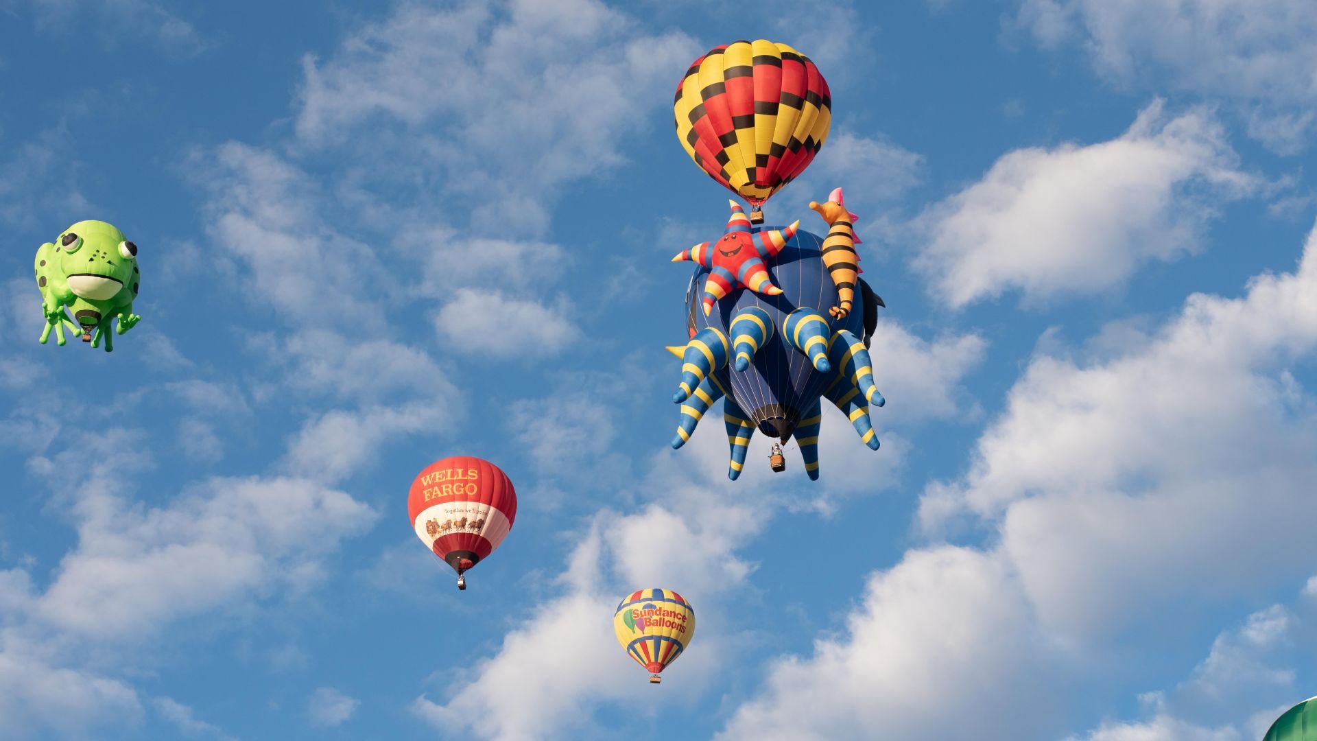 Hot air balloons from the 2017 Balloon Fiesta.