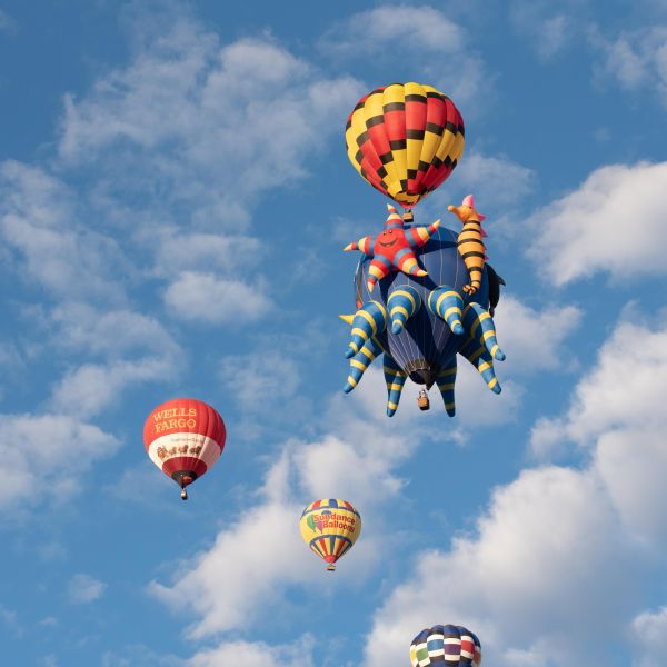 Hot air balloons from the 2017 Balloon Fiesta.