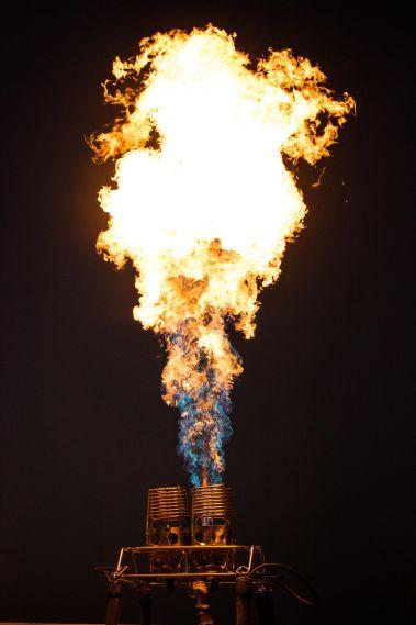 Whooosh goes the burner