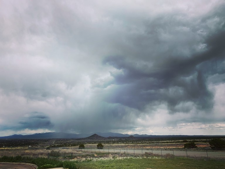 Inclement weather going into Santa Fe.