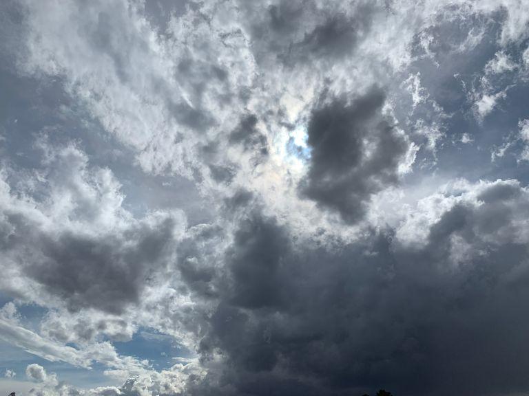 Clouds in the Santa Fe sky.