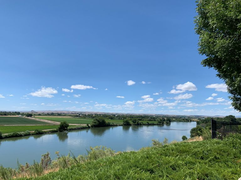 The Snake River, looking towards Oregon.
