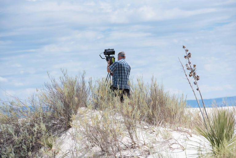 Bob capturing video of the dunes.