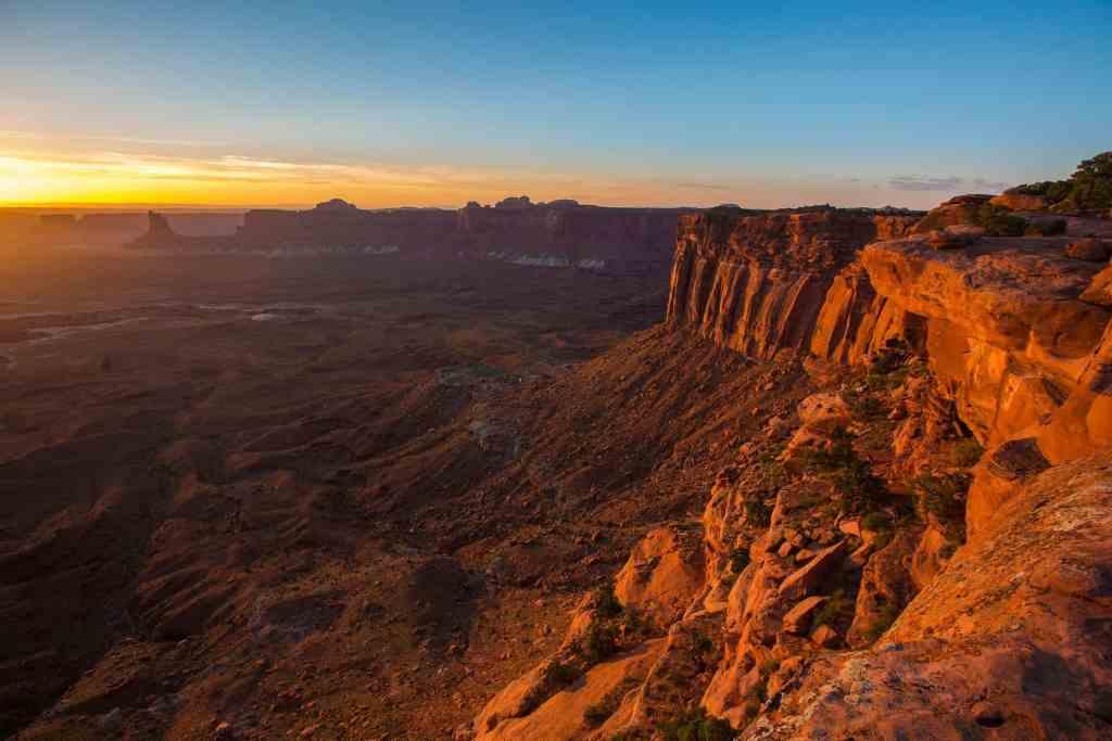 canyon lands sunset