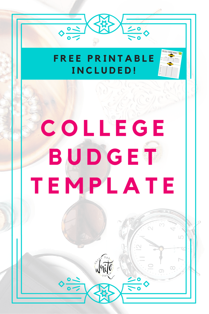 budget for college students template