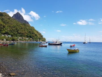 Bay of Soufriere St Lucia