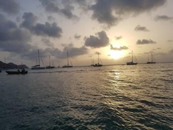 Sonnenuntergang und Erinnerungen ans Segeln auf den Britischen Jungferninseln
