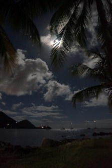 Fullmoon at Gros Islet, St Lucia