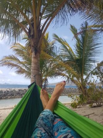 Hammock at Sandy Island, Carriacou