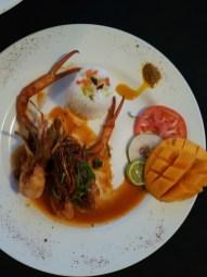 Das typische Gericht bei BBs Crabback: Gefüllte Krabbe
