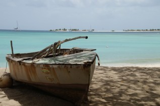 Fishing boat at Paradise Beach, Carriacou