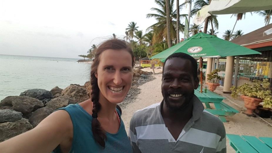 Abschlussfoto unserer Tagestour: Kenrick und ich am Pigeon Point