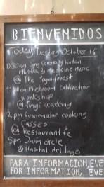Tagesprogramm in San Marcos: Mantras und Trommeln
