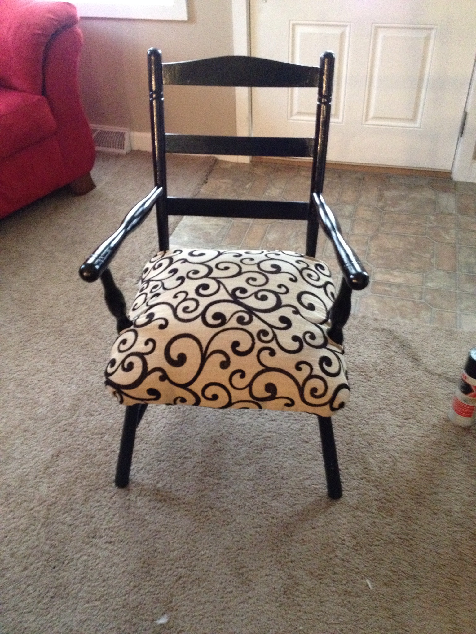 soccer mom covered chairs small white chair for bathroom awful to awesome remaking 39s ugly