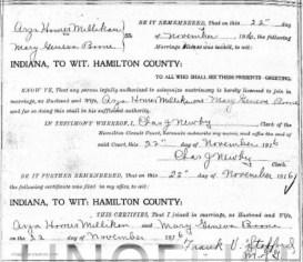 Arza & Mary Marriage record