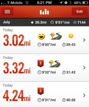 Three runs in one day!