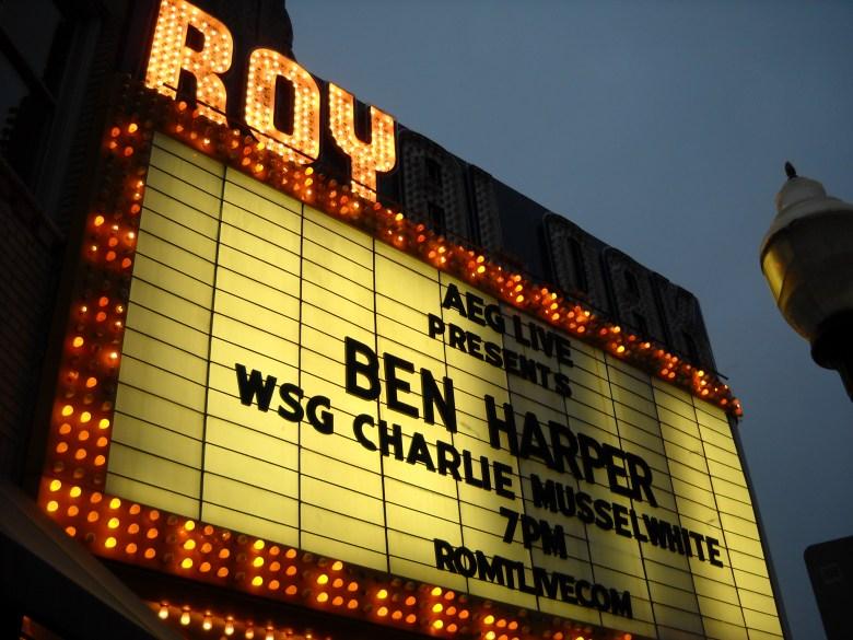 Bucketlist Goal Achieved: Ben Harper