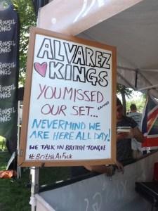 Alvarez Kings had the best sign. :)