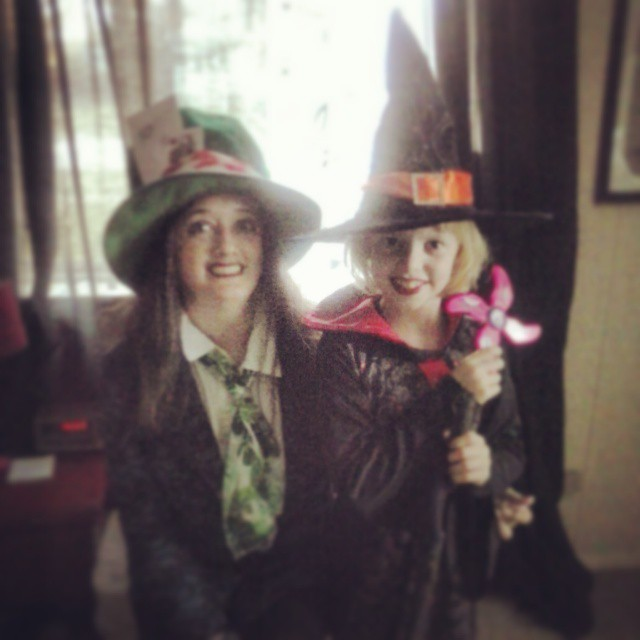 Mad Hatter and Witch. Halloween