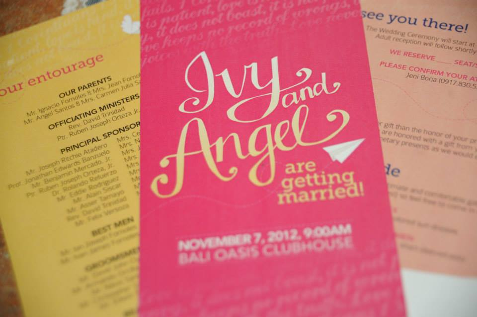 Ivy and Angel's Handdrawn Wedding Invitations