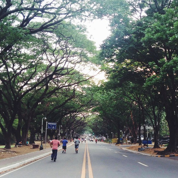 "An afternoon at UP Diliman, and thoughts about ""being all there"""