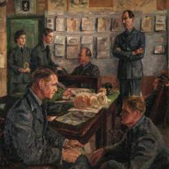 Blacker, Elva Joan; One of Our Famous Fighter Stations; Royal Air Force Museum; http://www.artuk.org/artworks/one-of-our-famous-fighter-stations-135668