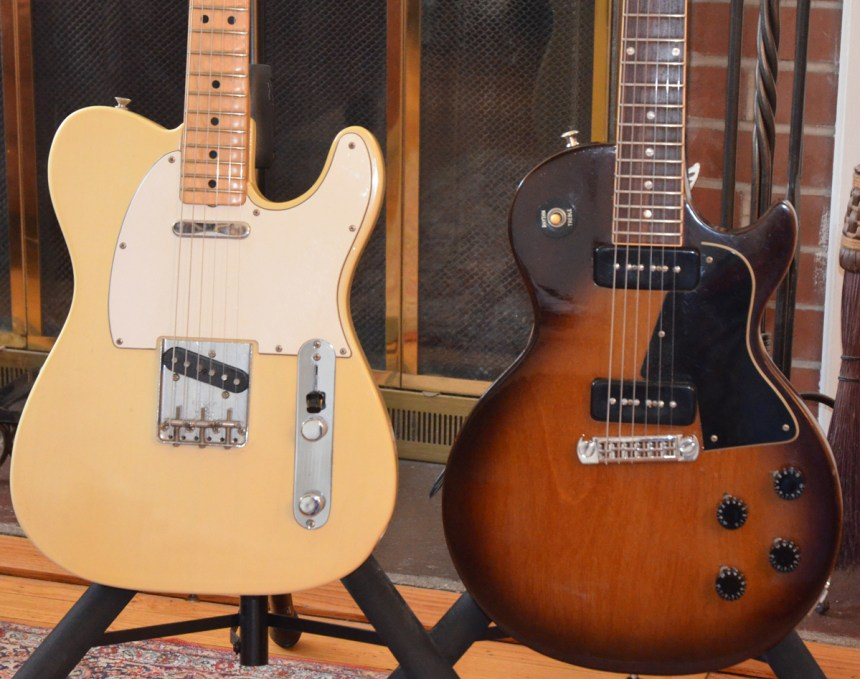1971 Telecaster and 1974 Les Paul Special