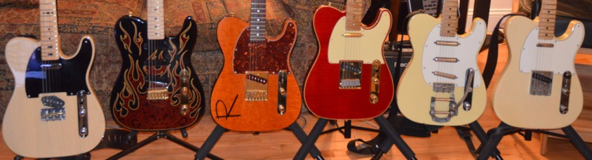 GE Smith, James Burton, Rustler, 40th Anniversary Custom Shop, Hybrid with Bigsby, 1971 Vintage Fender Telecasters