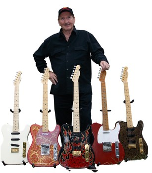 James Burton with his signature Telecasters