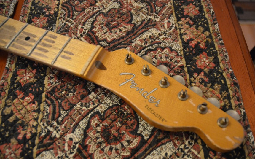 Some more aging is still needed on headstock