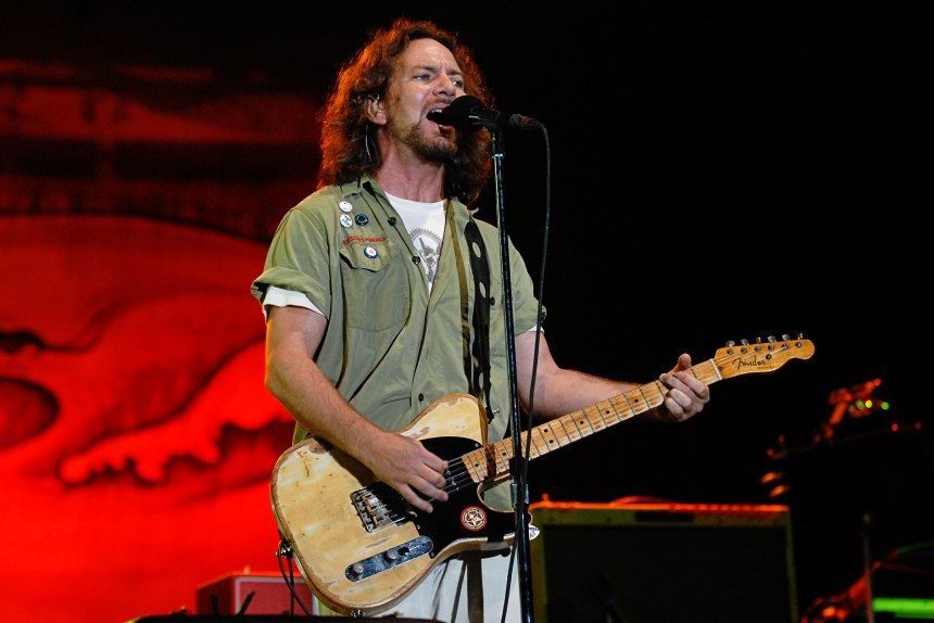 Eddie Vedder with vintage Esquire