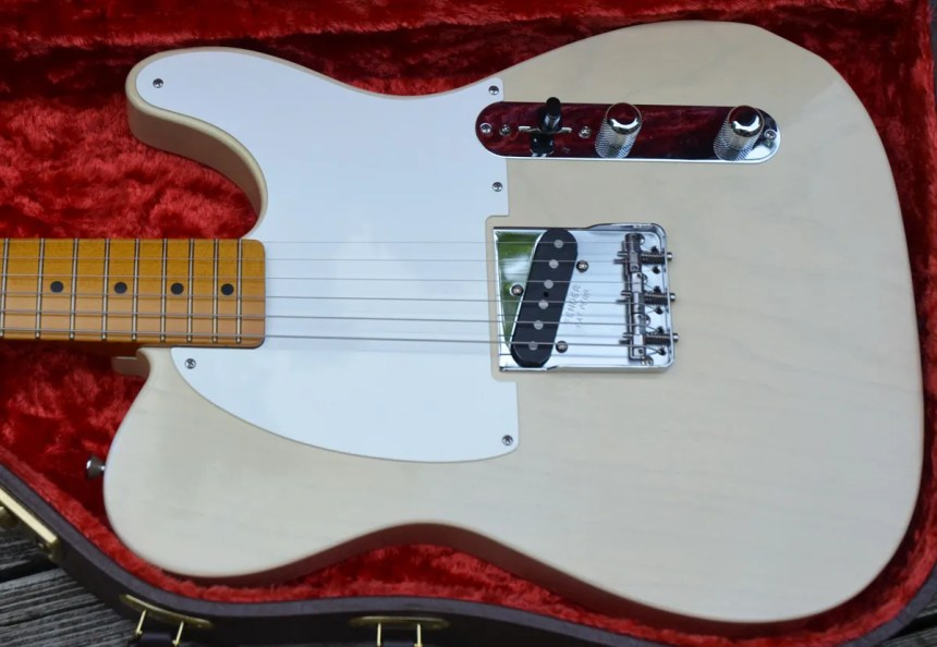 Duncan Custom Shop is stacked pickup that looks line a standard Tele pickup