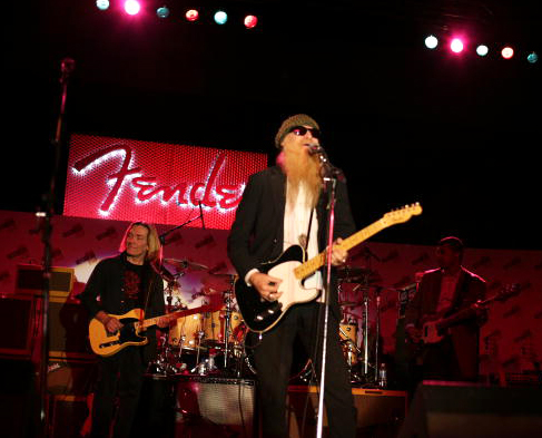 Billy Gibbons playing Custom Shop Esquire at Fender Gala NAMM 2008