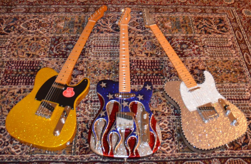 Buck inspired sparkle Telecasters