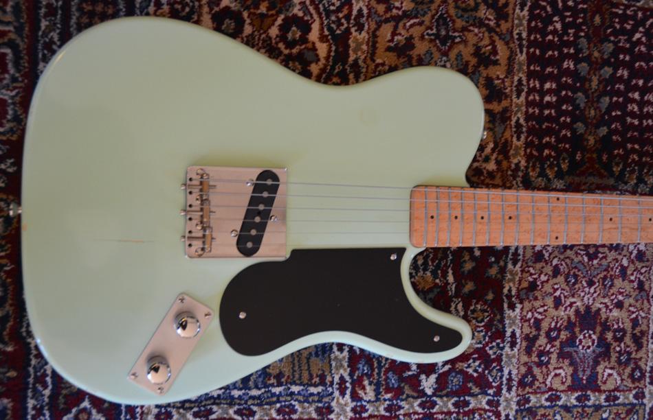 Handmade Black Bakelite Snakehead Pickguard Prototype 49 Tele Guitar USA