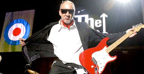 Pete Townshend with his red Strat
